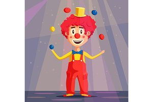 Happy circus clown