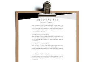 Simple Resume Template | Design 17