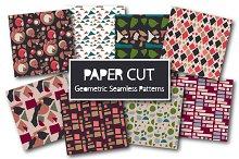 Paper Cut Geometric Seamless Pattern