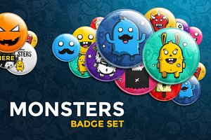 Monsters Badge Set