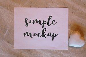 Paper & Heart Mockup