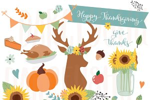 Fall Graphics, Thanksgiving Clip Art