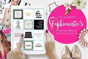 Ultimate Fashionista's Quotes Bundle