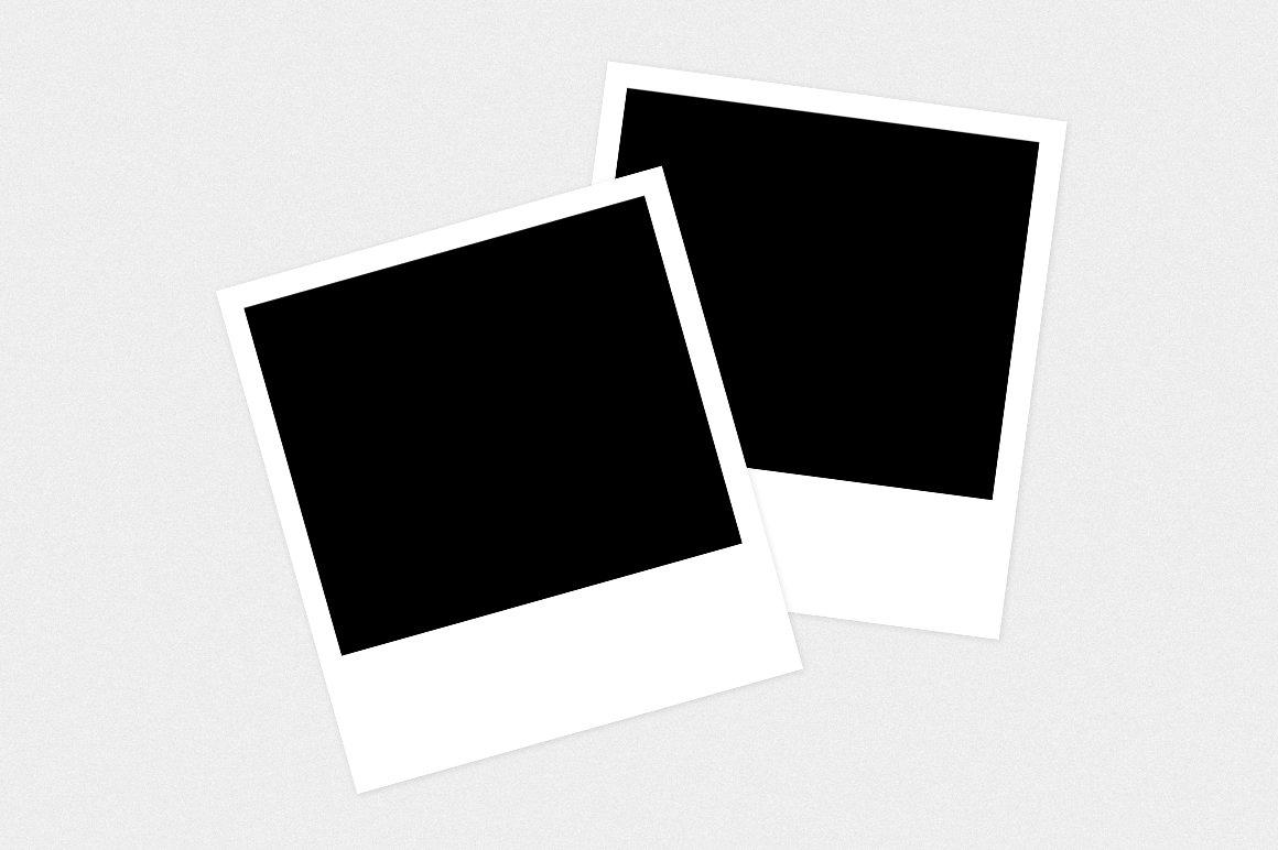 300 dpi polaroid photo mockup layout product mockups creative market. Black Bedroom Furniture Sets. Home Design Ideas