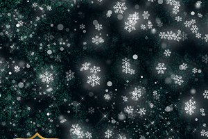 Luminous Snow Flurry PNG Overlays