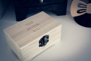 Wood Box Mock-up#3
