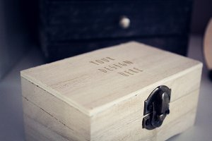Wood Box Mock-up#4