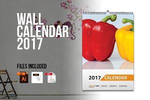 Wall Calendar Template 2017 V1
