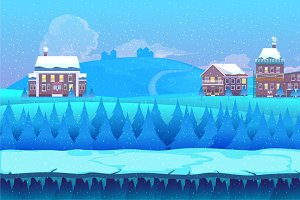 Winter Cartoon Background