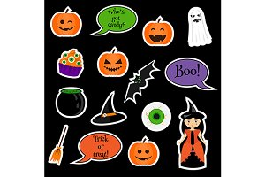 Halloween stickers. vector and jpg