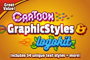 Cartoon Graphic Styles and Logo Kit
