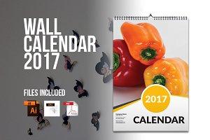 Wall Calendar Template 2017 V4