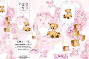 Baby Girl Pink Pregnancy Clipart