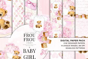 Pink Baby Girl Pregnancy Paper Pack