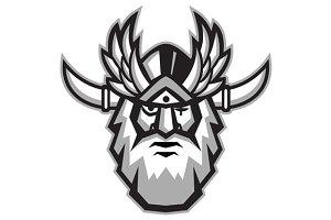 Norse God Odin Head Retro