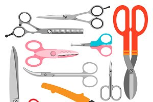 Vector scissors set