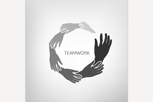 Teamwork & Help Icon