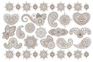 Indian Floral Ornaments, Mandala