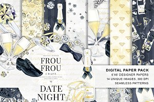 Valentine Date Nigh Designer Papers