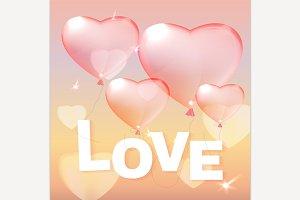 Heart Balloons & Love Lettering