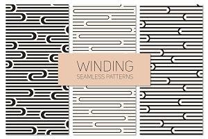 Winding Seamless Patterns. Set 5
