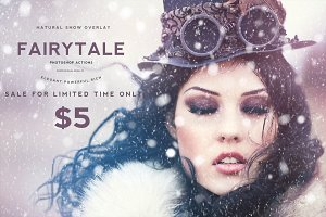 Natural Snow Overlays Photoshop SALE