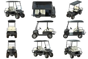 Golf car black set