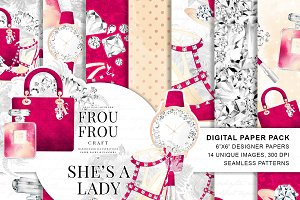Fashion Watercolor Paper Pack