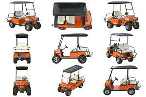 Golf car orange set