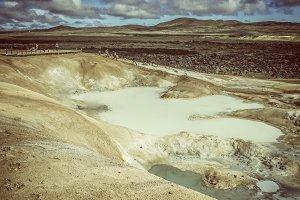 Sulfur pool at Leirhnjukur, Krafla I