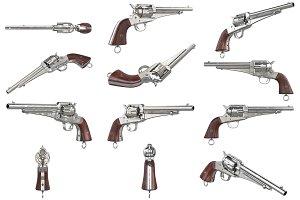 Gun cowboy revolver set