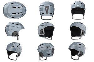 Helmet ski set