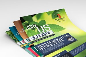 Business Flyers 5 Colors Variation