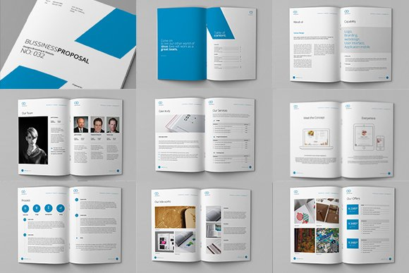 Clean Proposal Brief Template Brochure Templates Creative Market