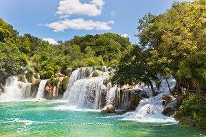 Krka waterfalls in Croatia