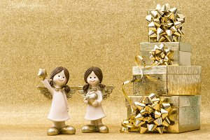 Holidays decoration. Gift box