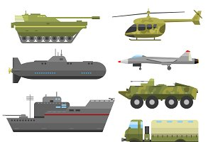 Military technic army vector