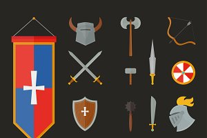 Knight metal armour vector