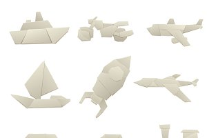 Origami paper transport vector