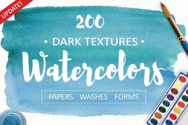 Dark Watercolor Textures