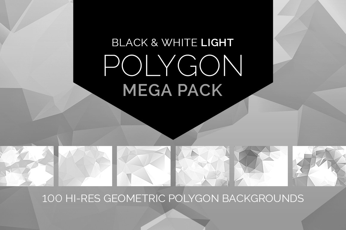 Light polygon mega pack patterns creative market fandeluxe Ebook collections