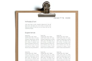 Simple Resume Template | Design 18