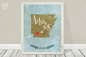 Arkansas state art printable