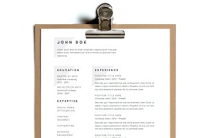 Simple Resume Template | Design 19