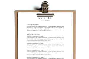 Simple Resume Template | Design 20