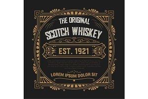 Whiskey design for label
