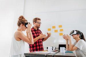 Developers brainstorming