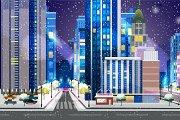 Winter Town Background