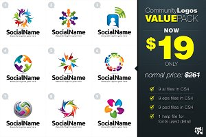 9 Community Logo Value Pack