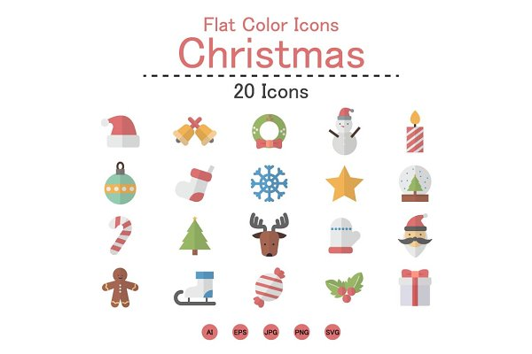 Flat Color Icons Christmas Icons.